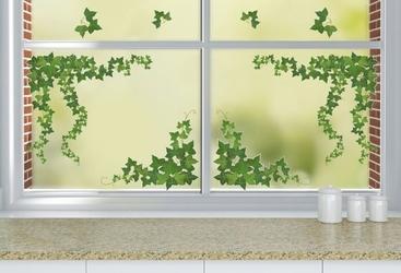 Statyczne naklejki na okno liście bluszcz
