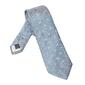 Elegancki długi błękitny krawat van thorn w różowe paisley