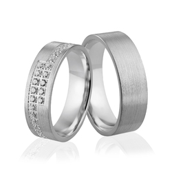 Obrączki srebrne - wzór ag-258