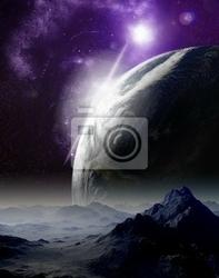 Obraz streszczenie tle przestrzeni kosmicznej. w podróży do dalekiej przyszłości. nowy