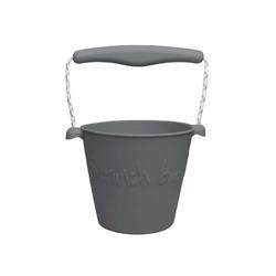Zwijane wiaderko silikonowe scrunch bucket - ciemnoszare