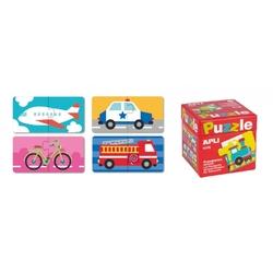 Puzzle dwuczęściowe apli kids - środki transportu