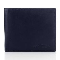 Granatowy męski portfel ze skóry naturalnej