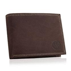 Męski portfel ze skóry naturalnej betlewski bpm-nd-61 brązowy