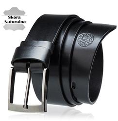Pasek skórzany betlewski lic40 w pudełku - czarny