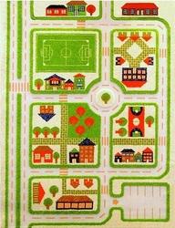 Dywan miasto zabaw 3d 160 x 230 cm zielony