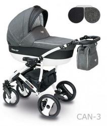 Wózek Camarelo Carera New 3w1 FOTEL MAXI COSI PEBBLE Pro i-Size
