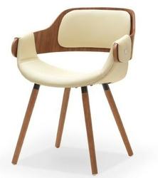 Krzesło tapicerowane hal nowoczesne kremowe