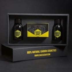 Węglowy zestaw prezentowy sadza soap