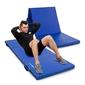 Materac gimnastyczny składany średnio twardy z rzepami 180 x 60 x 5 cm niebieski - marbo sport