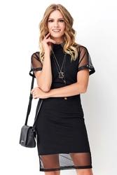 Czarna luźna sukienka z cekinami