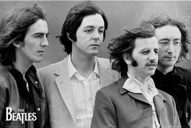 The beatles four - plakat