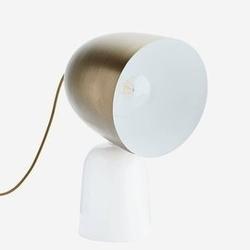 Madam stoltz :: metalowa lampa stołowa mosiężna szer. 28 cm