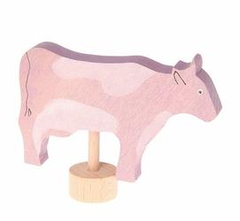 Drewniana figurka, Różowa Krowa, Grimms