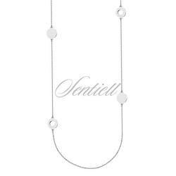 Srebrny naszyjnik pr.925 z czterema kółeczkami - rodowanie