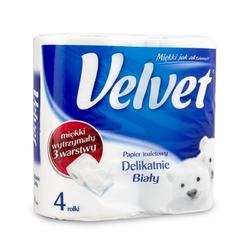 Papier toaletowy velvet - delikatnie biały  4 rolki
