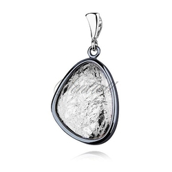 Srebrna zawieszka pr.925 oksydowana i diamentowana