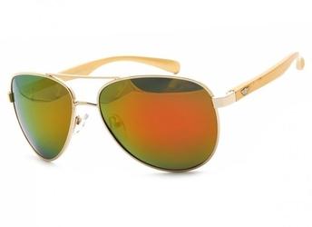 Pilotki polaryzacyjne okulary aviator lustrzanki pol-11a-1