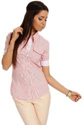 Klasyczna koszula z krótkim rękawem - malinowy