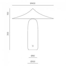 Aromas :: lampa stołowa kine czarno-złota wys. 40 cm