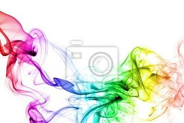Naklejka kolorowy dym