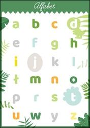 Alfabet dinozaury - plakat wymiar do wyboru: 20x30 cm
