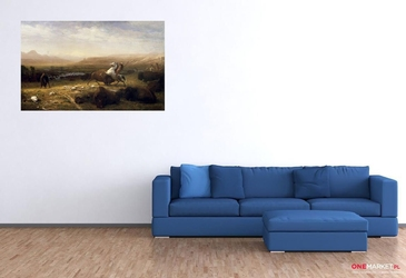 ostatnie bizony - albert bierstadt ; obraz - reprodukcja