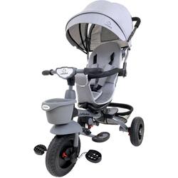 Junioria bonbon szary rowerek trójkołowy 4w1 obracany + prezent 3d