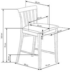 Drewniany stołek barowy mix