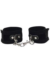 Kajdanki na ręce czarny zamsz   100 dyskrecji   bezpieczne zakupy