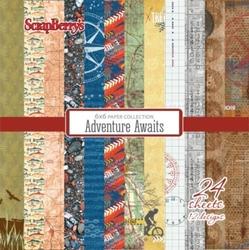Zestaw męskich papierów Adventure Awaits 15x15 cm