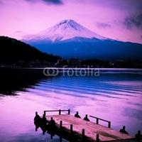 Obraz na płótnie canvas trzyczęściowy tryptyk góra fuji