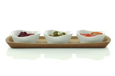 Berghoff zestaw do przekąsek, salaterki na podstawce