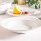Talerz głęboki do zupy porcelana mariapaula złota linia 23 cm