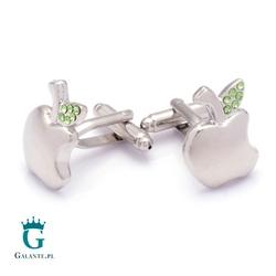 Spinki do mankietów srebrne jabłko