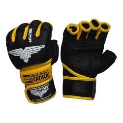 Beltor rękawice mma combat czarno-żółte