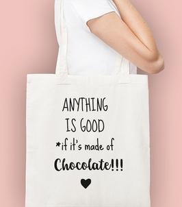 Chocolate torba na zakupy naturalna universal