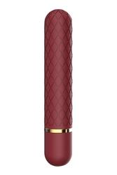 Klasyczny wibrator punktu romance lizzy bordowy | 100 dyskrecji | bezpieczne zakupy