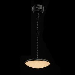 Mała, okrągła lampka wisząca led do jadalni, czarny klosz i akrylowy dyfuzor 703011201
