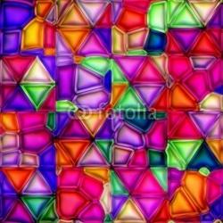 Obraz na płótnie canvas czteroczęściowy tetraptyk wielobarwne witraż tekstura