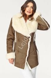 Imitacja kożucha damskiego z miłym futerkiem od środka, kurtka damska laura scott