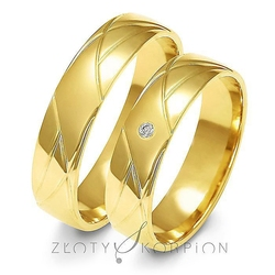 Obrączki ślubne złoty skorpion – wzór au-a144