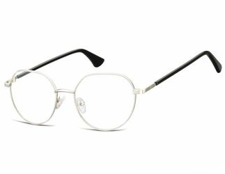 Lenonki okrągłe okulary oprawki optyczne 916e srebrna