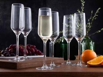 Kieliszki do szampana altom design rubin 220 ml komplet 6 szt.