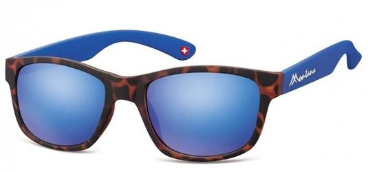 Okulary nerdy  montana m43e niebiesko-panterkowe revo