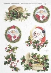 Papier ryżowy ITD A4 R182 Święty Mikołaj