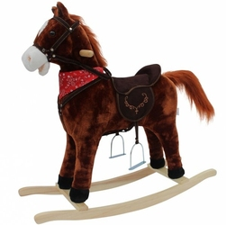 Mustang - koń na biegunach - bardzo duży xxxl 78cm - brązowy