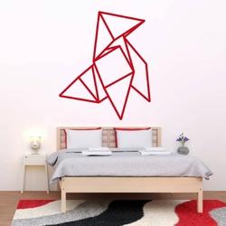 Szablon malarski na ścianę origami 2474