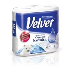 Velvet najdłuższy czysta biel, ręcznik kuchenny, 2 rolki