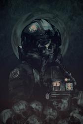 Star Wars Skull Pilot - plakat premium Wymiar do wyboru: 21x29,7 cm